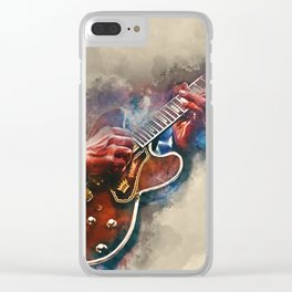 BB King's electric guitar, guitar wall art, studio decor, music room decor, gift for guitarist Clear iPhone Case