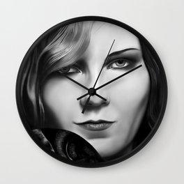 Kirsten Dunst by A.Harrison Wall Clock