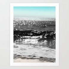 Cascading Waves Art Print