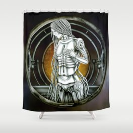 """Astrological Mechanism - Virgo"" Shower Curtain"