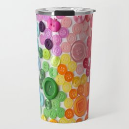 Rainbow of buttons Travel Mug
