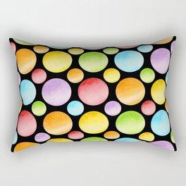 Candy Rainbow Polka Dots Rectangular Pillow