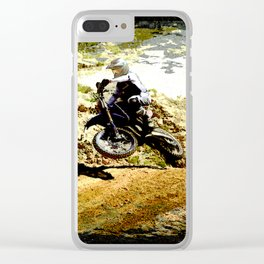 Dirt-bike Racer Clear iPhone Case