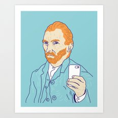 Van Selfie Art Print