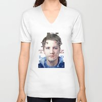 mike wrobel V-neck T-shirts featuring Mike by Justin Yanke