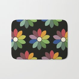 Flower pattern based on James Ward's Chromatic Circle (vintage wash) Bath Mat
