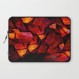 Fragments Of Fire - Abstract, geometric, fragmented pattern Laptop Sleeve