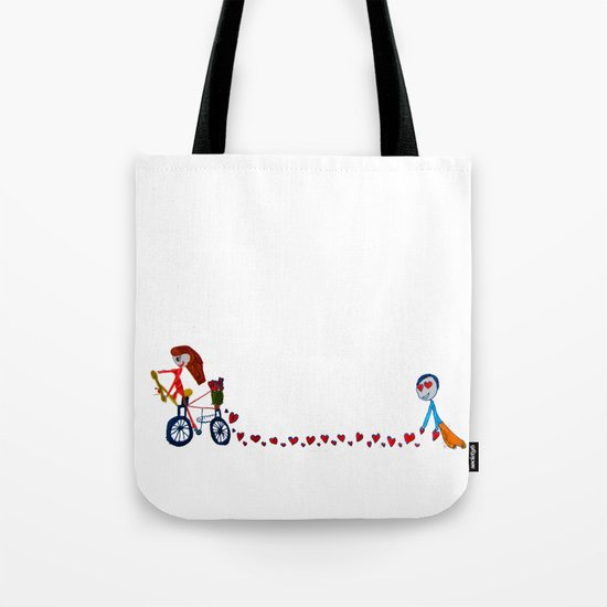 I'm in love   Be my Valentine   Kids Painting Tote Bag