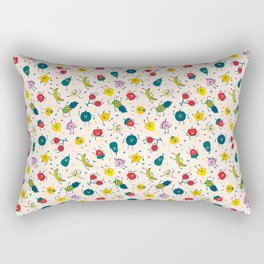 Happy fruits pattern Rectangular Pillow