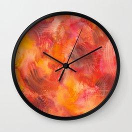 leaf pile Wall Clock