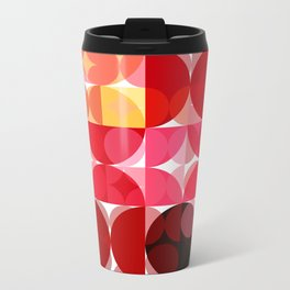 Mottled Red Poinsettia 2 Abstract Circles 3 Travel Mug