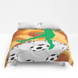 Soccer Dancing Version 1 Comforters