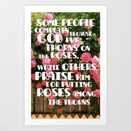 Thorns on Roses Art Print