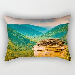 West Virginia Landscape Blackwater Falls State Park Overlook Rectangular Pillow