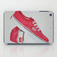 vans iPad Cases featuring Red Vans by Margaux Pepper