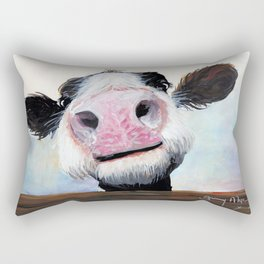 Nosey Cow ' HEY! HOW'S IT GOIN'? ' by Shirley MacArthur Rectangular Pillow
