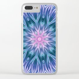 Mandala blue 28 Clear iPhone Case