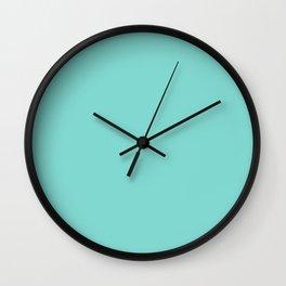 Aqua Blue Simple Solid Color All Over Print Wall Clock