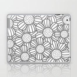 Field of daisies - gray Laptop & iPad Skin