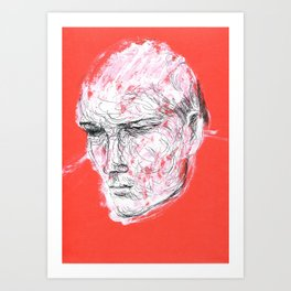 Dmitriy's head Art Print
