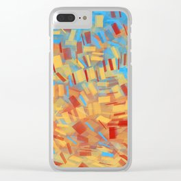 Colored Papers Clear iPhone Case
