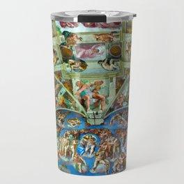 Spectacular Sistine Chapel Frescoes, Rome, Italy color photograph / photography / photographs Travel Mug