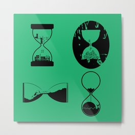 hourglasses Metal Print