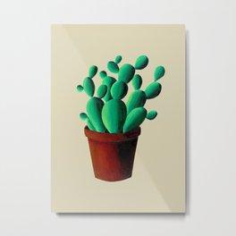 Cactus Pot Metal Print