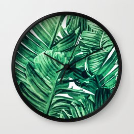 Tropical State of Mind #painting #tropical Wall Clock