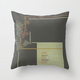 New Technology Commands Throw Pillow