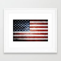 american flag Framed Art Prints featuring American flag by Nicklas Gustafsson