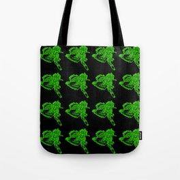 Gotcha - Green on Black Tote Bag