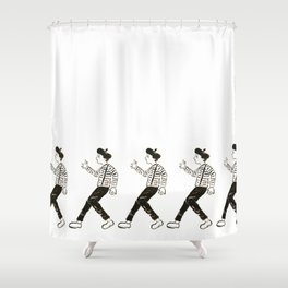 Talkless Man Shower Curtain