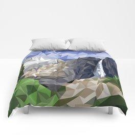 Geometric Yosemite Comforters