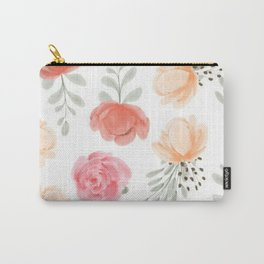 Colorful Rose Pastel Pattern Carry-All Pouch