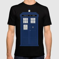 Doctor Who's Tardis Black 2X-LARGE Mens Fitted Tee