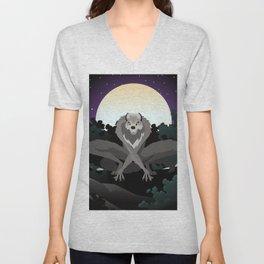 werewolf beast in the night Unisex V-Neck