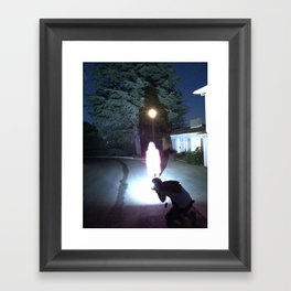 The Speed of Light Framed Art Print