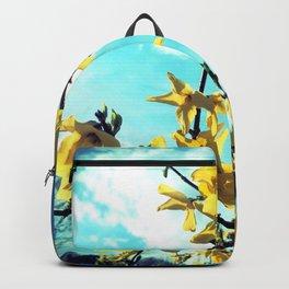 Forsythia Flowers Backpack