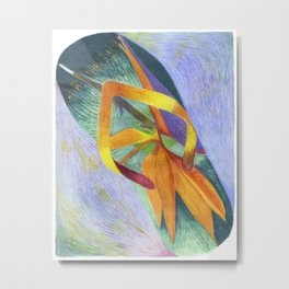 Bird of Paradise Slippah Metal Print