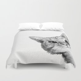 sneaky cat Duvet Cover