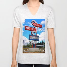 Classic Motel Sign Unisex V-Neck