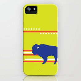 Bison striped iPhone Case