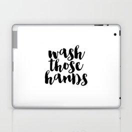 Wash Those Hands hands bathroom art bathroom sign printable hand lettered nursery decor kids Laptop & iPad Skin