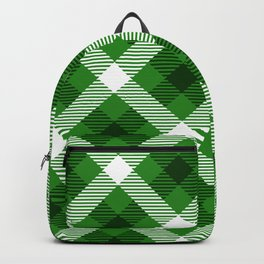 Buffalo plaid in green white & black pattern Backpack