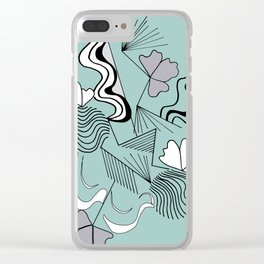 Lines and design with and original japanese style for decoration, workart, furniture, clothes Clear iPhone Case