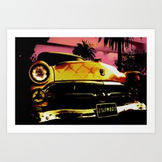 The American Dreamed Car - Old School car for an early dream Art Print