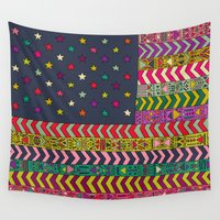 usa Wall Tapestries featuring MY USA by Bianca Green