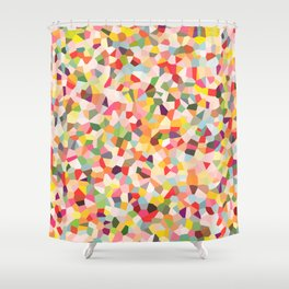 Colorful Shapes 2 Shower Curtain