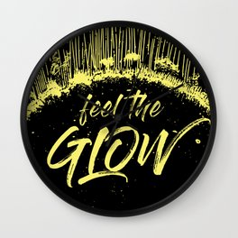 Feel the Glow // moonlight version Wall Clock